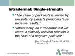 intradermal single strength