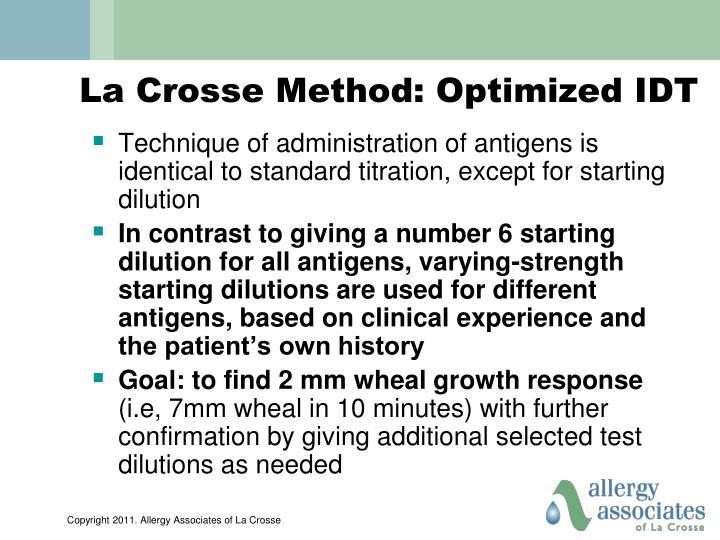 La Crosse Method: Optimized IDT