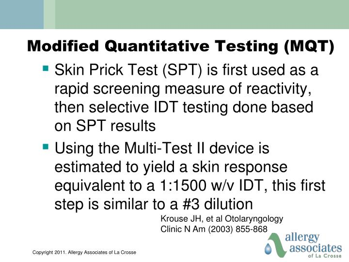 Modified Quantitative Testing (MQT)