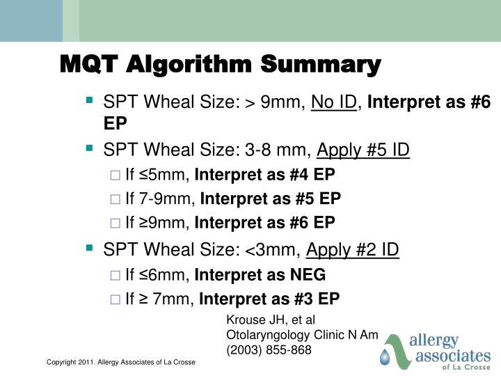 MQT Algorithm Summary