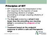 principles of idt