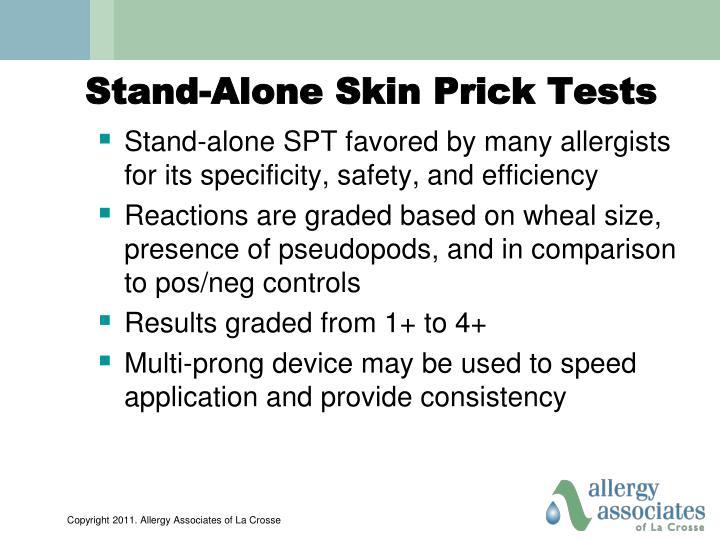 Stand-Alone Skin Prick Tests