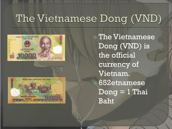The Vietnamese Dong (VND)