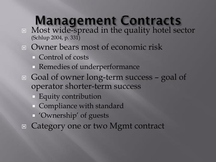 Management Contracts