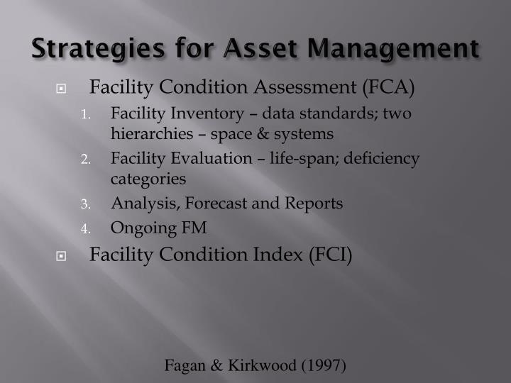 Strategies for Asset Management