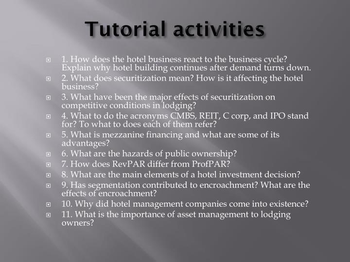 Tutorial activities
