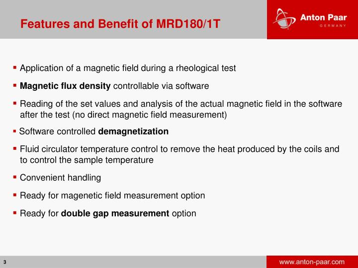 Features and Benefit of MRD180/1T