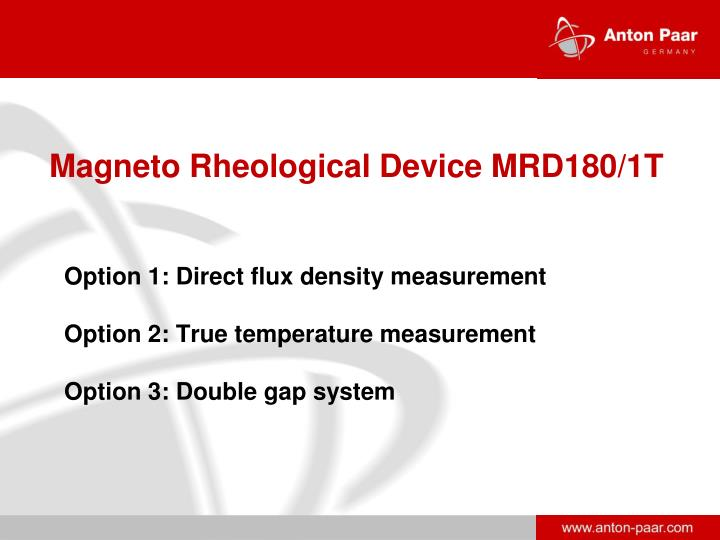Magneto Rheological Device MRD180/1T