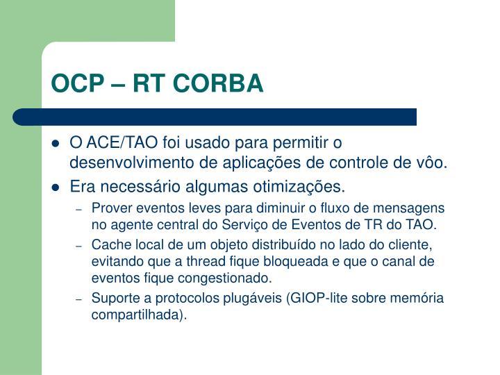 OCP – RT CORBA