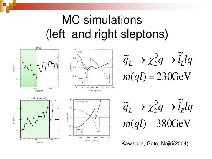 MC simulations