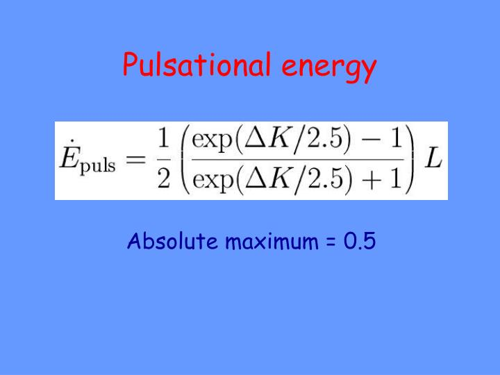 Pulsational energy