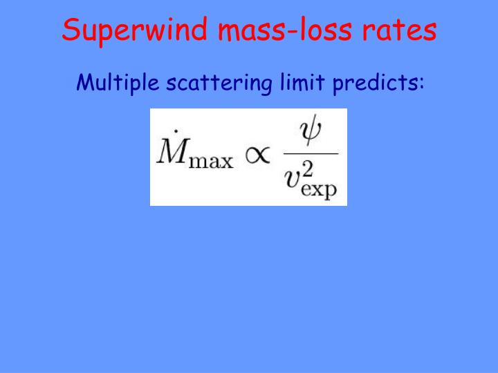 Superwind mass-loss rates