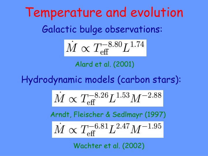 Temperature and evolution