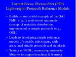 current focus peer to peer p2p lightweight protocol reference models