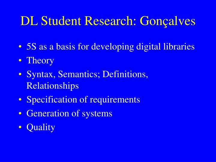 DL Student Research: Gon
