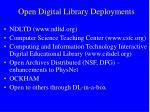 open digital library deployments