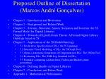 proposed outline of dissertation marcos andr gon alves