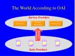 the world according to oai