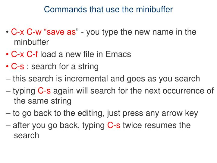 Commands that use the minibuffer