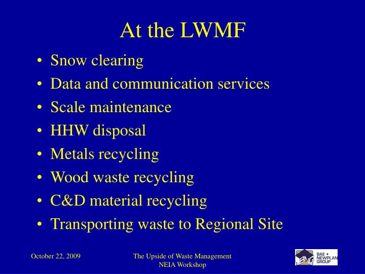 At the LWMF