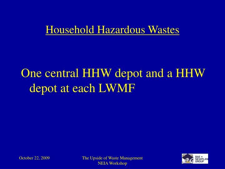 Household Hazardous Wastes
