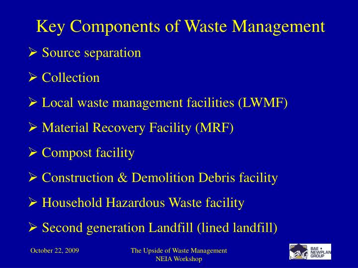 Key Components of Waste Management