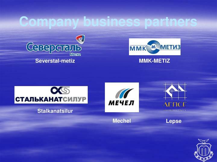 Company business partners