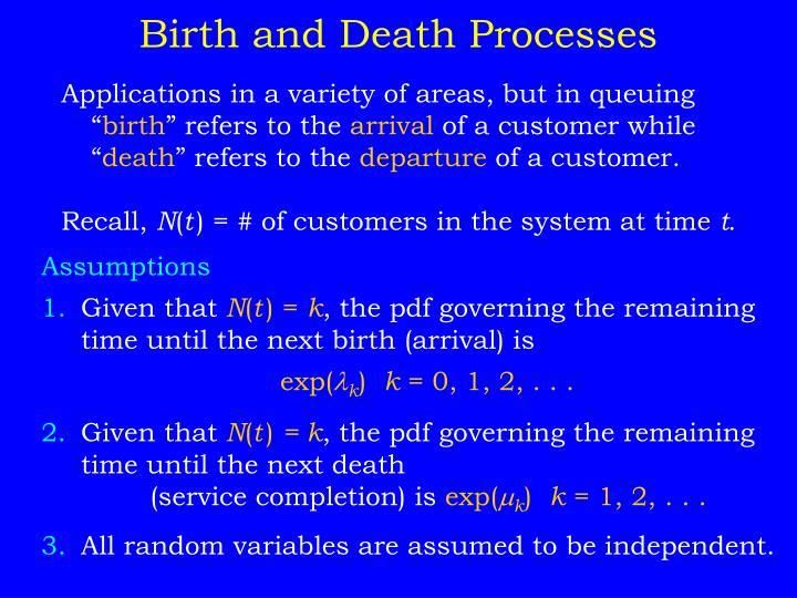 Birth and Death Processes