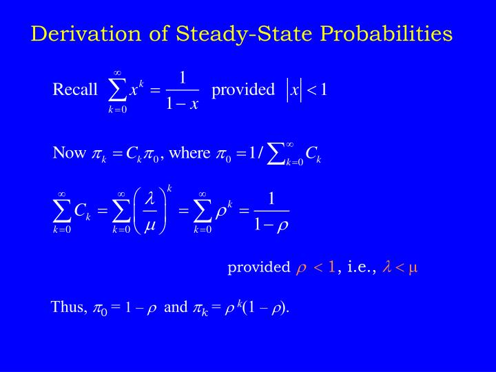 Derivation of Steady-State Probabilities