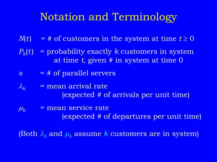 Notation and Terminology