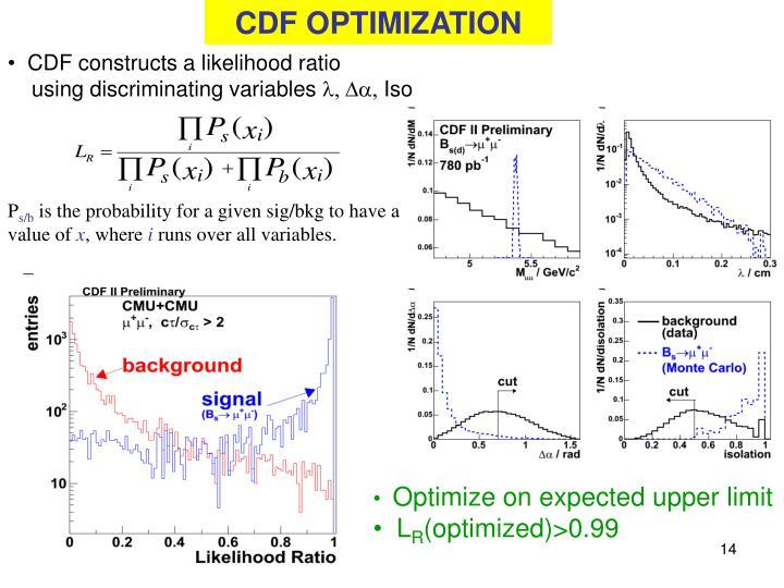 CDF OPTIMIZATION