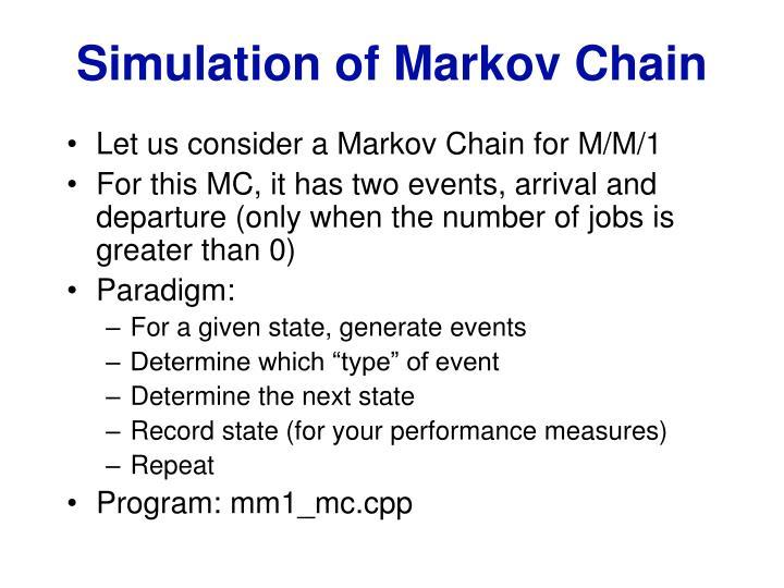 Simulation of Markov Chain