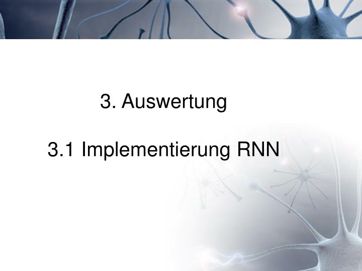 3. Auswertung