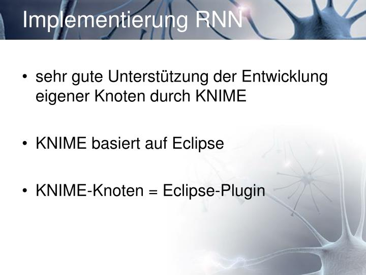 Implementierung RNN