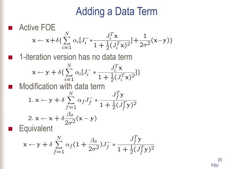 Adding a Data Term