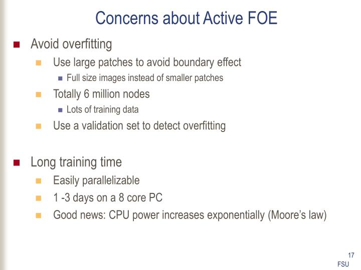 Concerns about Active FOE