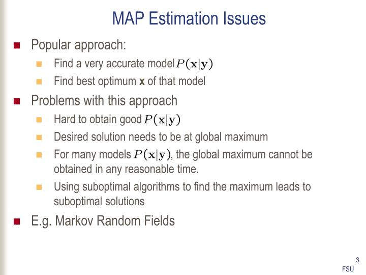 Map estimation issues