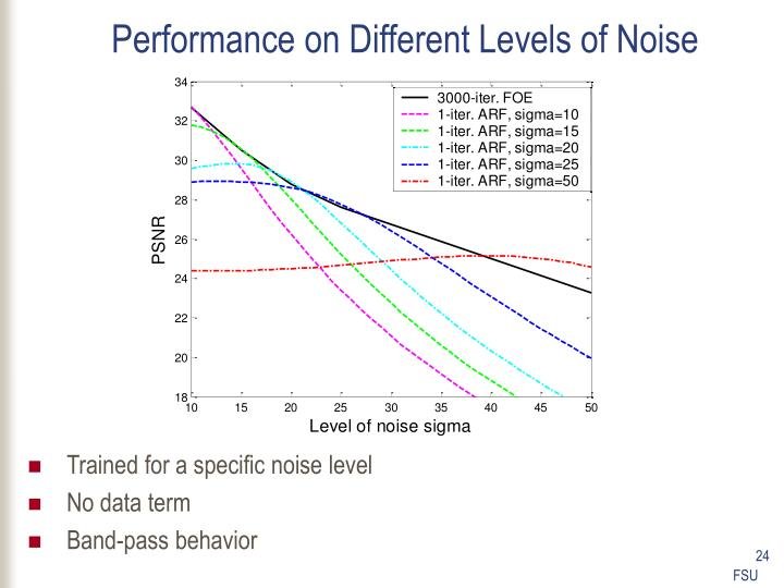 Performance on Different Levels of Noise