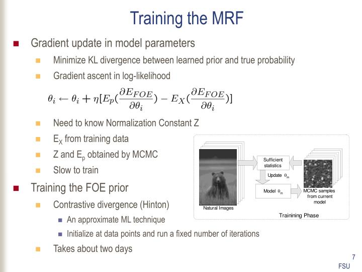 Training the MRF