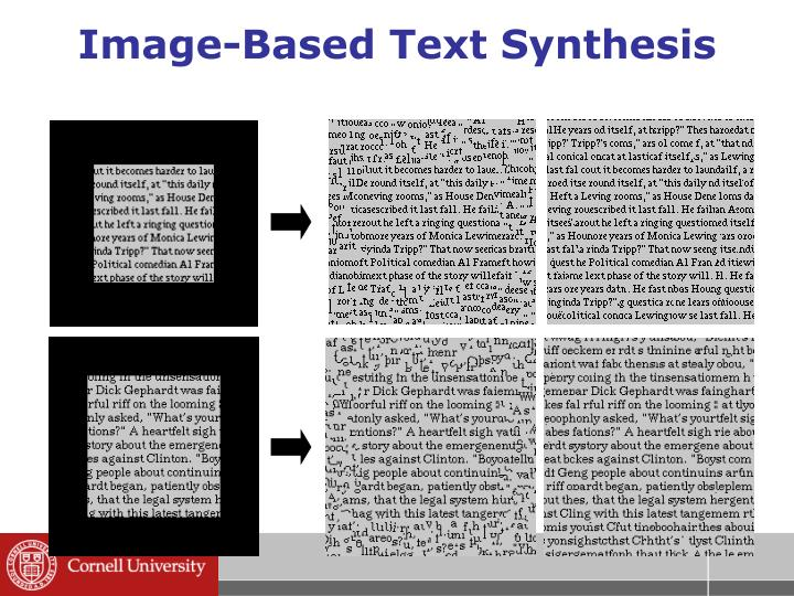 Image-Based Text Synthesis