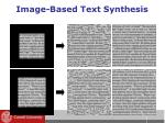 image based text synthesis