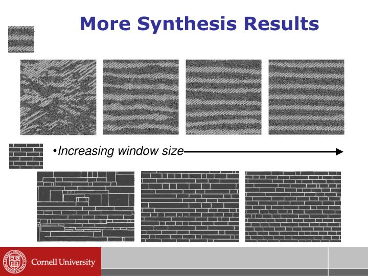 More Synthesis Results