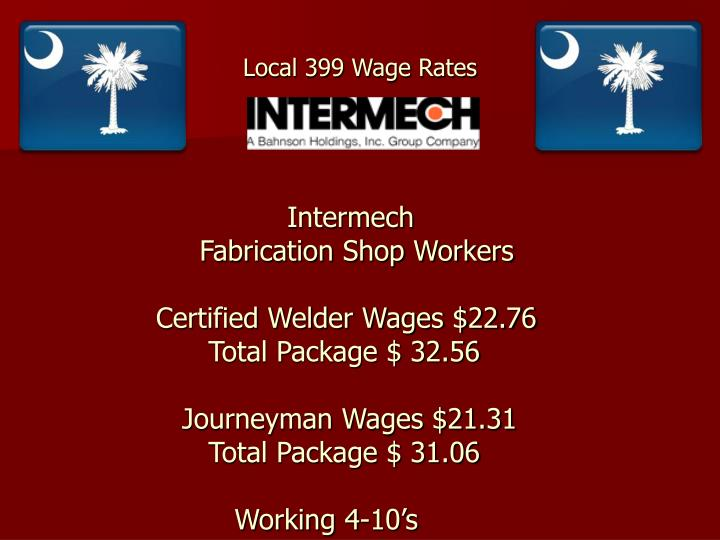 Local 399 Wage Rates