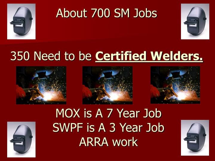 About 700 Jobs