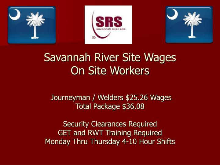 Savannah River Site Wages
