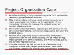 project organization case