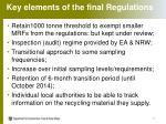 key elements of the final regulations