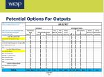 potential options for outputs