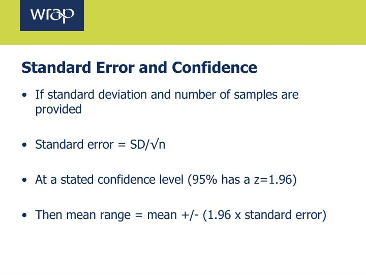 Standard Error and Confidence