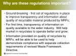 why are these regulations important